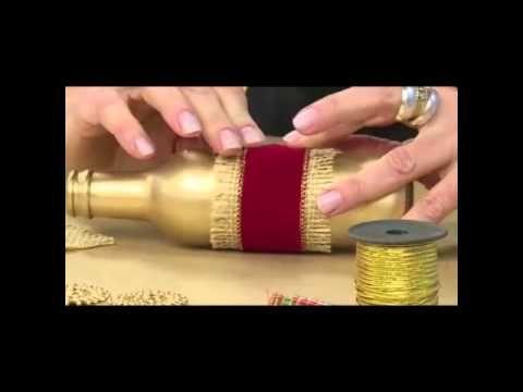 Acrilex - Artesanato - Garrafas decoradas - YouTube