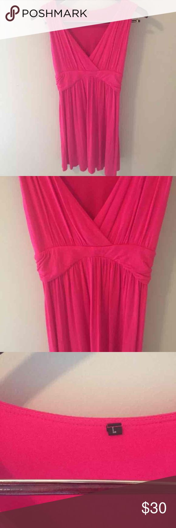 Bright Pink Sundress sz. Large. Casual Bright Pink Sundress sz. Large. By Charm Your Prince. Beach Casual Coverup Dress Charm Your Prince Dresses Midi