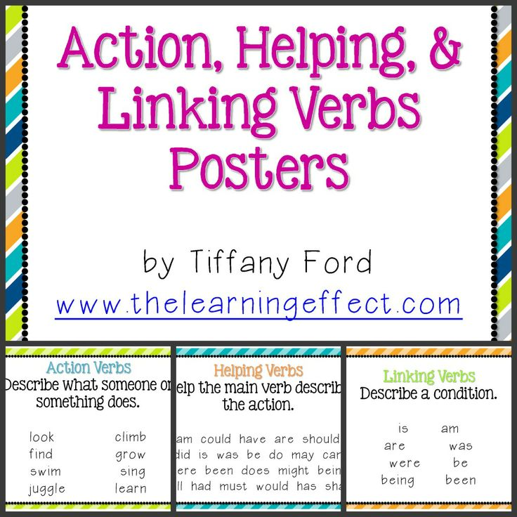 Best  Linking Verbs Ideas On   Grammar Anchor Charts