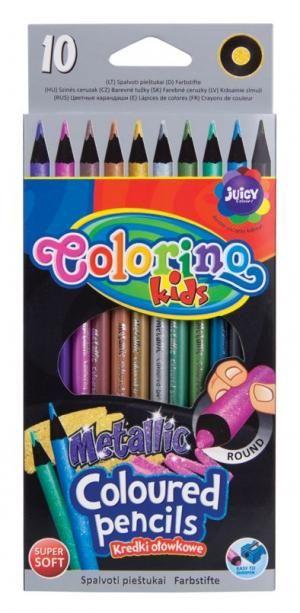 Promotie Set creioane colorate metalizate Colorino, 10 bucati - 12.48 lei