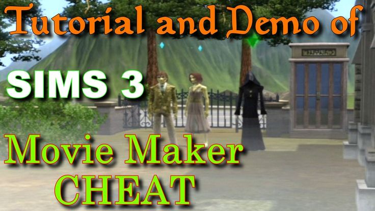Sims 3 Movie Maker Cheat Tutorial & Demo w/ Grim Reaper and zombies