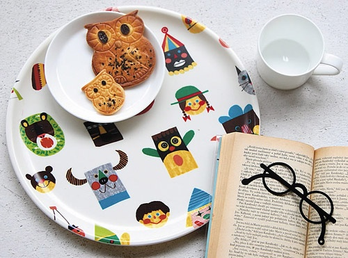 Michiko Tachimoto Owl homeware #owl #tray #biscuits #cookies. This is my dream life. Everything owl!!!!