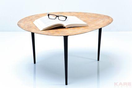 De salontafel Egg Gold is een stijlvolle vintage-look tafel uit de collectie van Kare Design en is nu te bestellen op Furnies.nl!
