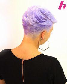 Short hair special: Lavender pixie haircuts!