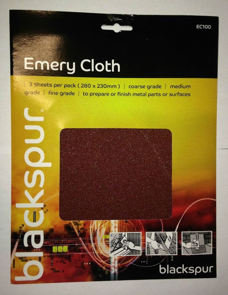 Blackspur Emery Cloth 280mmx 230mm