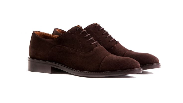 brown suede oxford