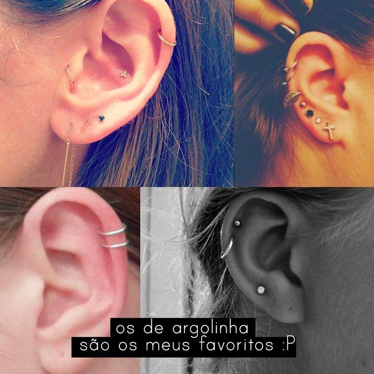 furos na orelha cartilagem - Pesquisa Google