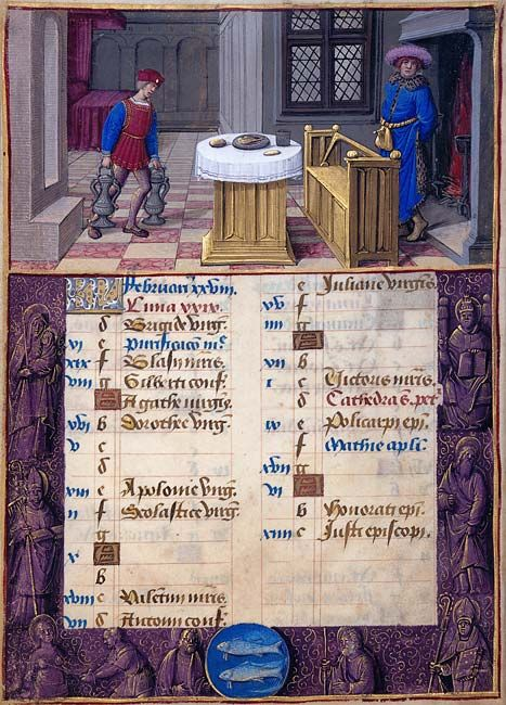 The Morgan Library & Museum Online Exhibitions - Hours of Henry VIII - February: Keeping Warm