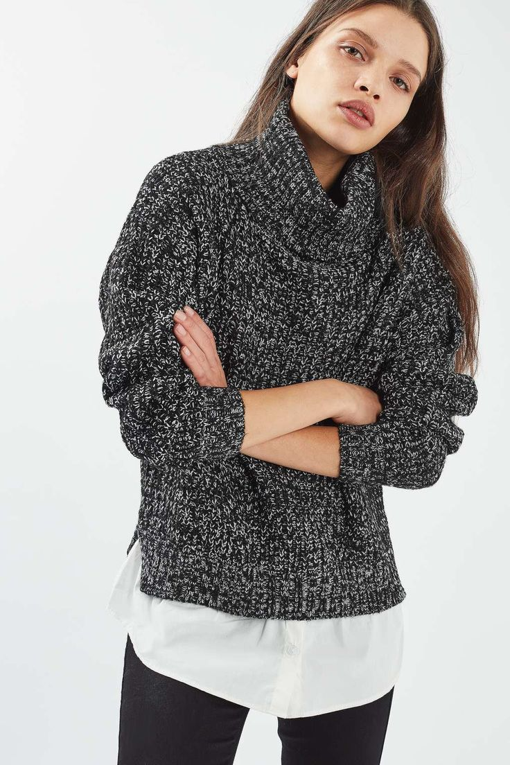 **2 in 1 Jumper With Shirt by Nobody's Child - Knitwear - Clothing - Topshop