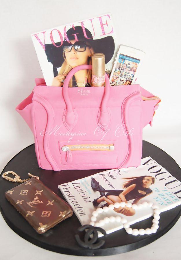 Edible Cake Images Louis Vuitton : Celine Luggage Tote Cake wit edible Louis Vuitton keychain ...