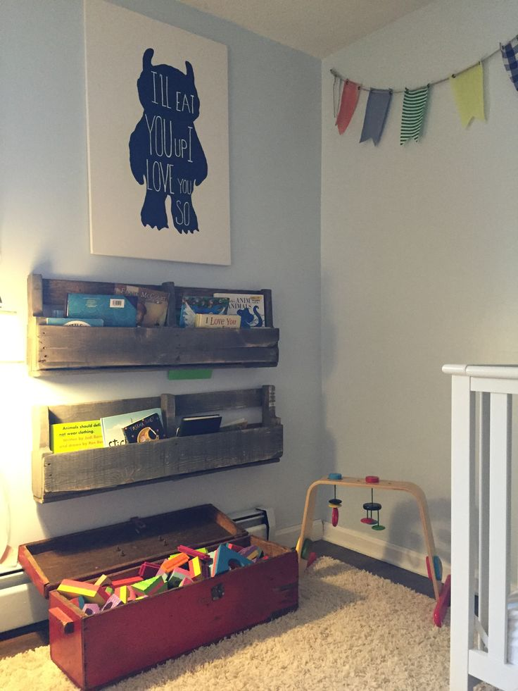 Nursery, pennants, XXL where the wild things are painting ...