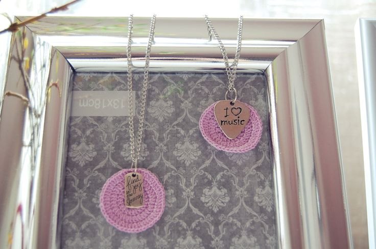 Unique necklaces with crochet and charms, handmade with love. by NanaStudioByDani on Etsy