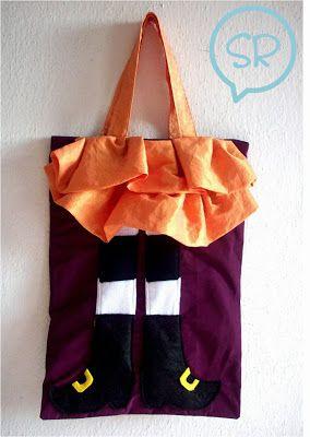 Halloween: Cucire borsetta porta dolcetti - Tutorial in Italiano