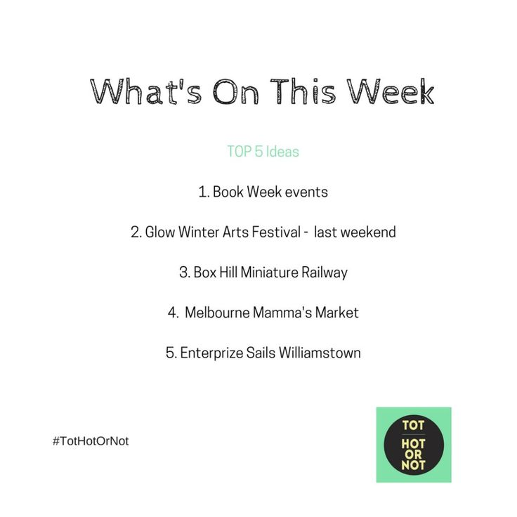 What's On - Friday 19 August - Thursday 25 August http://tothotornot.com/2016/08/whats-on-friday-19-august-thu-25-august/