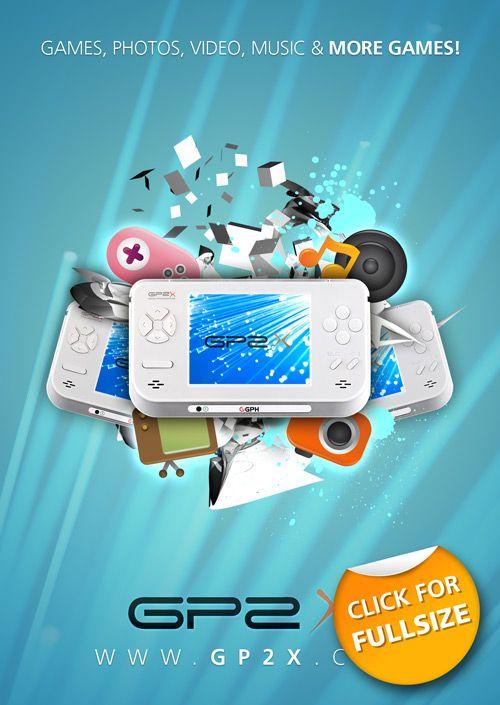 GP2X Console Advertisement Design