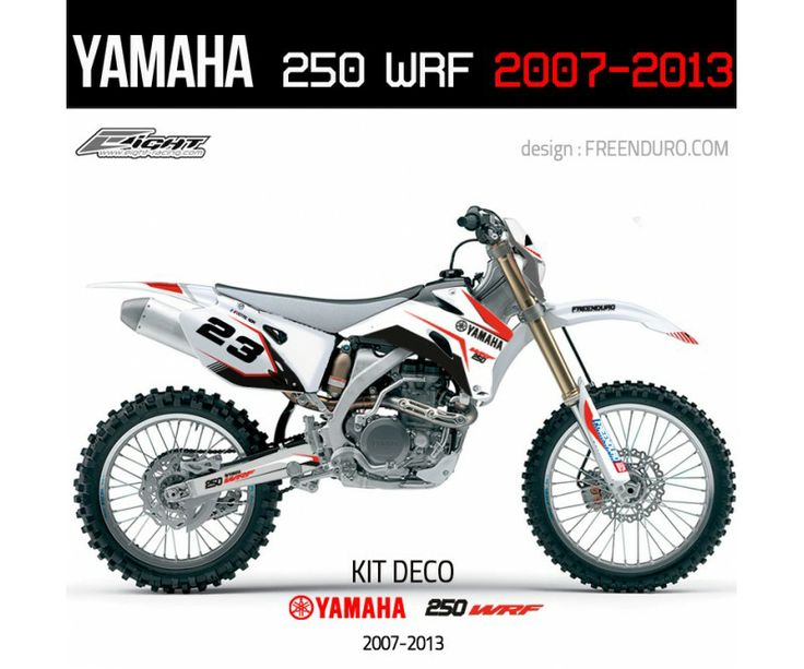 Kit déco Yamaha  250 WRF   http://www.eight-racing.com/fr/kits-deco-enduro/1318-kit-deco-yamaha-250-wrf-2007-2013-white.html