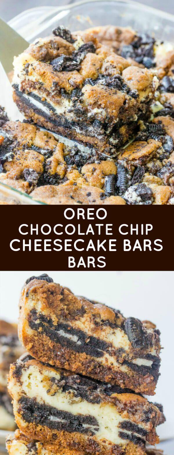 Oreo Chocolate Chip Cheesecake Bars | Recipe | Chocolate ...