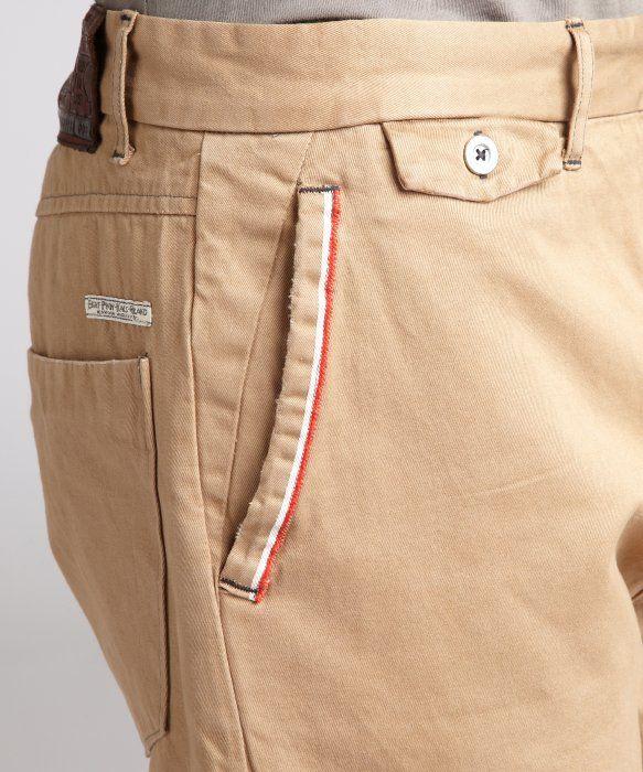 Eight Penny Nails : khaki selvedge chino pants : style # 319467401