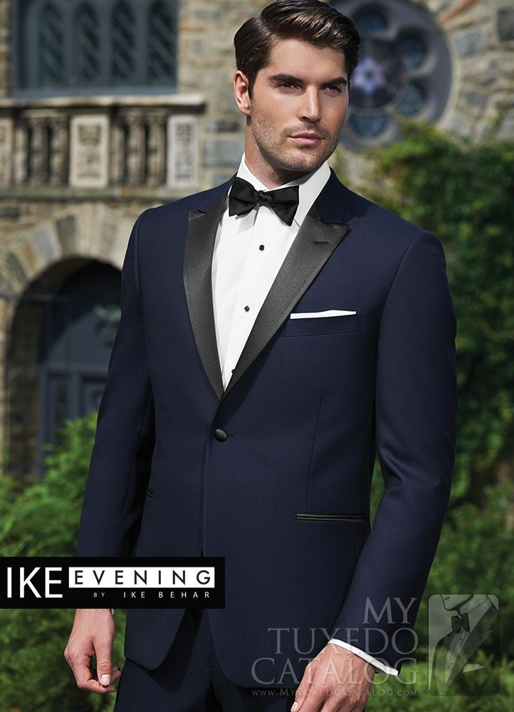 Asheville Tuxedo by Mitchell's - 'Blake' - Slim Fit - Ike Behar - Navy with Black Lapel