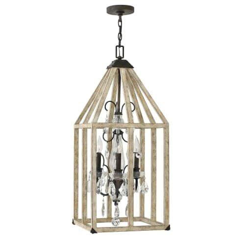 Fredrick Ramond FR41213 3 Light Chandelier From the Emilie Collection, Iron Rust (Steel)