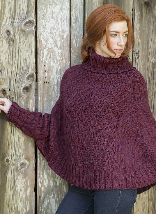 Free Knitting Pattern for Galilee Poncho
