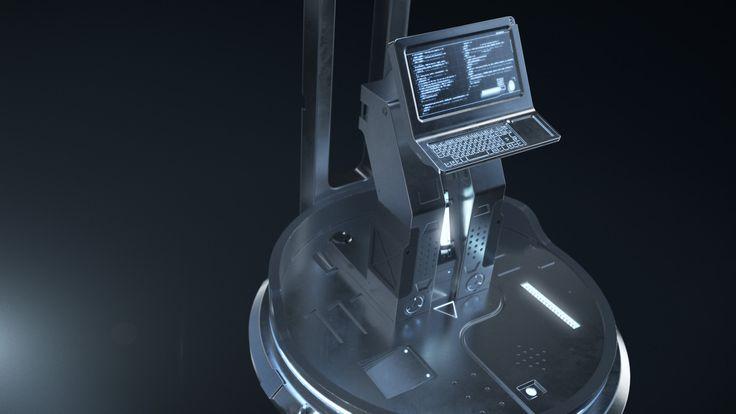 Sci-fi computer terminal, Artem Lebedev on ArtStation at https://www.artstation.com/artwork/vyYP6