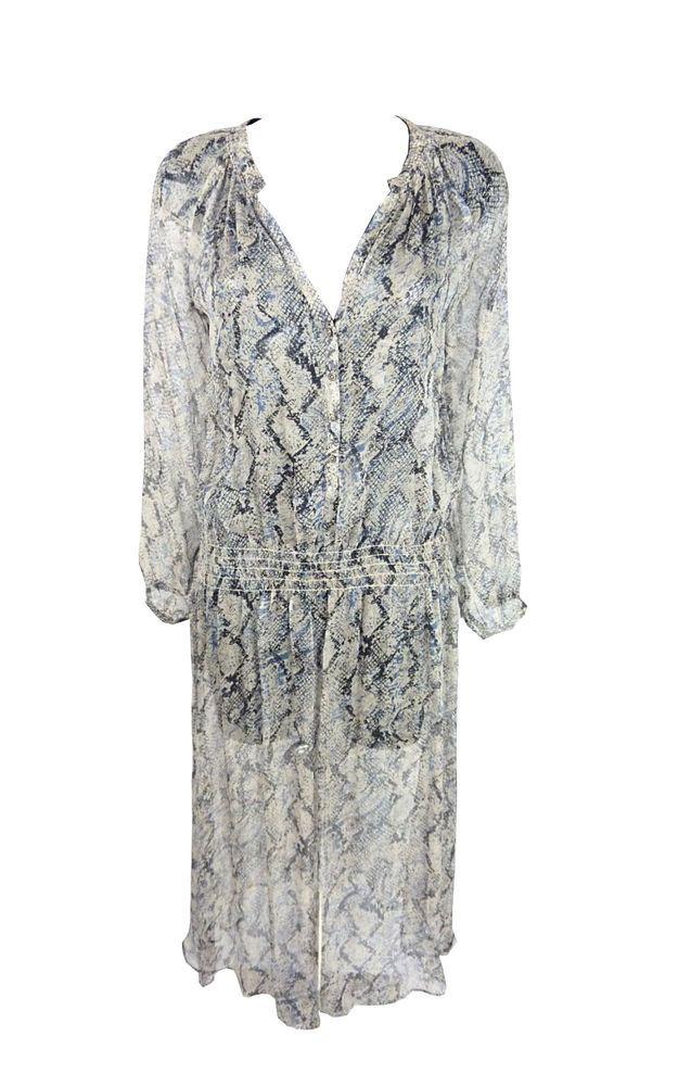 Robe longue Zadig et Voltaire, Robe transparente, Robe imprimé serpent, T 38