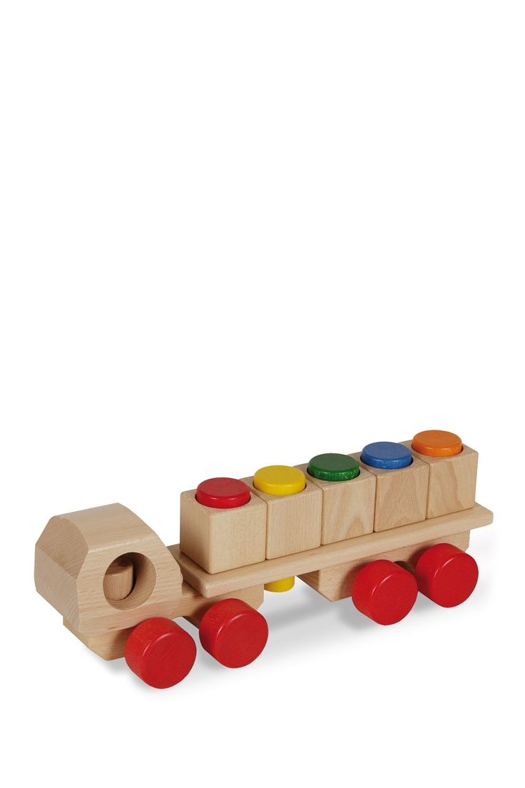 Wooden Color Plug Truck