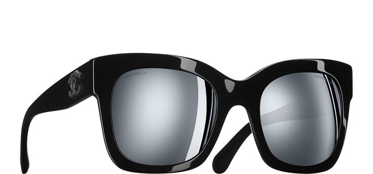 Chanel - Mirrored Classic Cat Square Sunglasses
