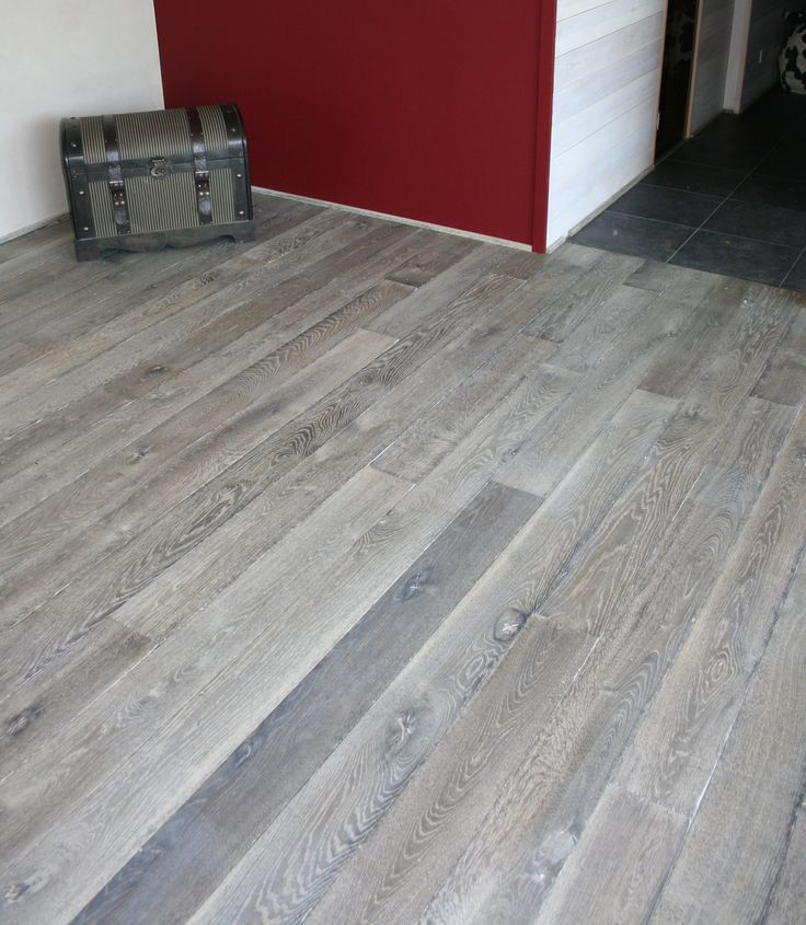 New Gray Stained Maple Floors: Old Grey / Reclaimed Engineered Floor