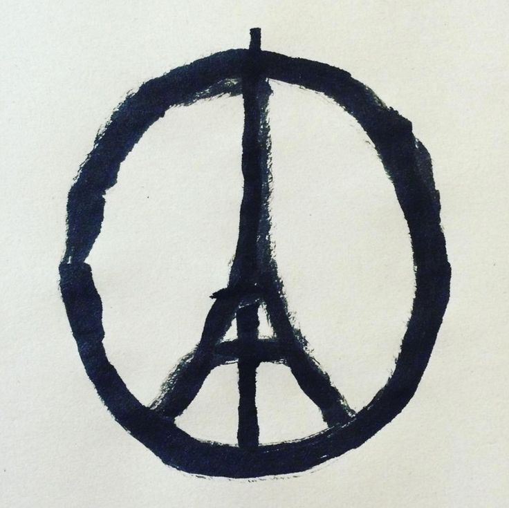 An image created by French graphic designer Jean Jullien in response to the terrorist attacks in Paris attacks has gone viral.