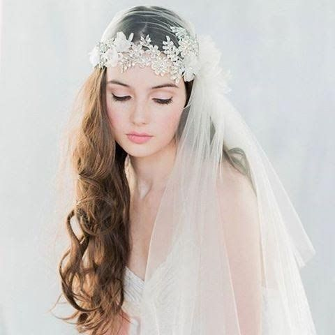 Crystal French Tulle Juliet Cap Veil