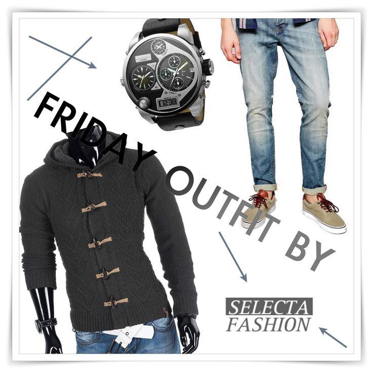 Male friday outfit by Selecta Fashion #menfashion #whatmenneeds #dieselwatch #skinnyjeans #iweartoday #outfit #dnesnosim #panskamoda #diesel #inspirujsa #selectafashion #style  Shop on selectafashion.com