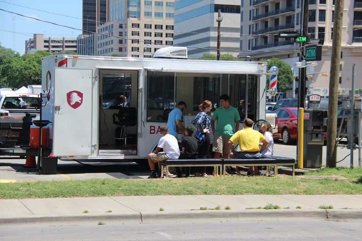austin // texas // business trailers: mobile barber shop