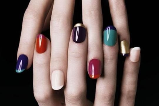 YSL nails... Loving all the colour combos: Nails Tricks, Nails Art, Yves Saint Laurent, Nails Design, French Manicures, Color Combos, French Tips, Nails Polish, Color Nails