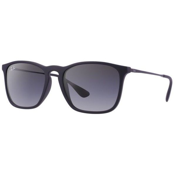 Ray-Ban Men's Black Sunglasses ($115) ❤ liked on Polyvore featuring mens, men's accessories, men's eyewear and men's sunglasses