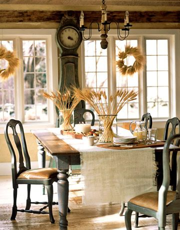 Table Setting - I still love these chairs.