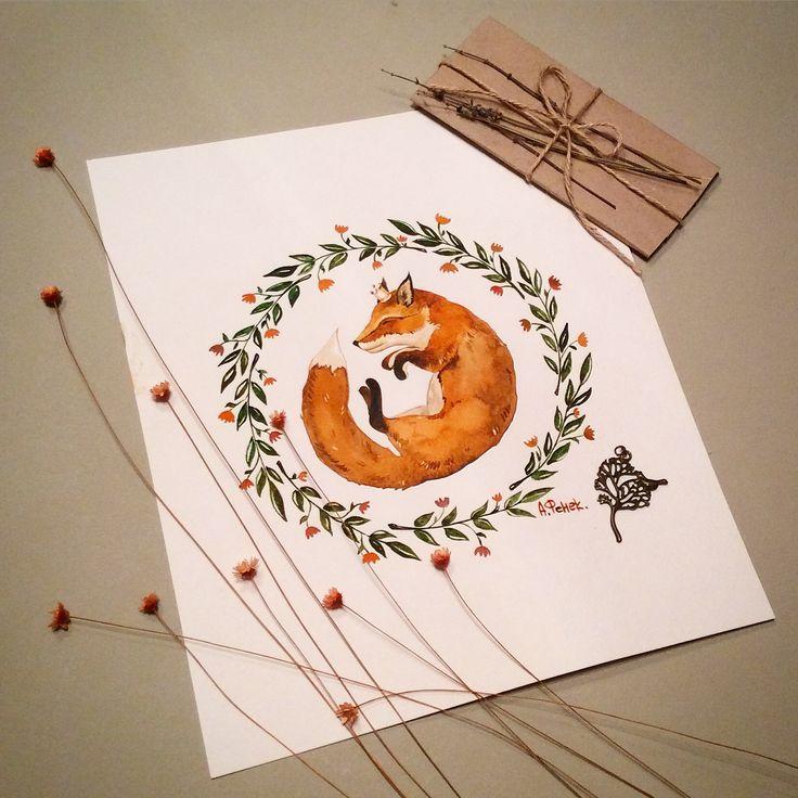 #watercolor #sketch #fox #art #topcreator  #графика #рисунок #иллюстрация #лисичка #graphics #mood