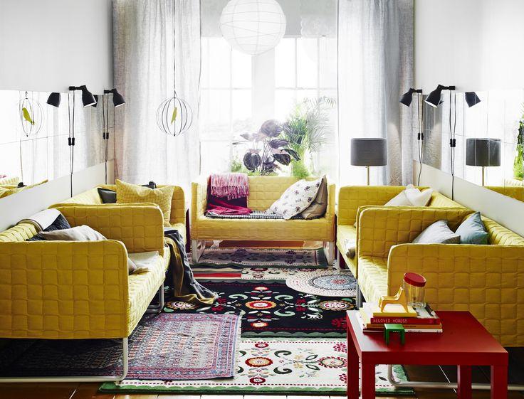 Petit mais pratique ! Le canapé #KNOPPARP s'adapte aussi bien à un salon…