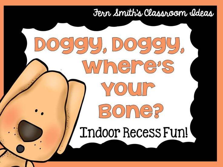 Indoor Recess ~ Doggie, Doggie, Where's Your Bone Printable Directions #FREE #TeachersFollowTeachers
