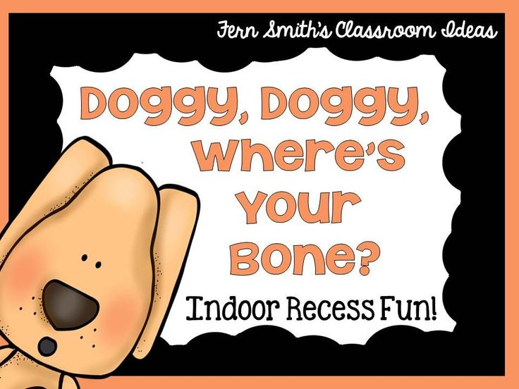 Indoor Recess ~ Doggie, Doggie, Where's Your Bone Printable Directions #FREE