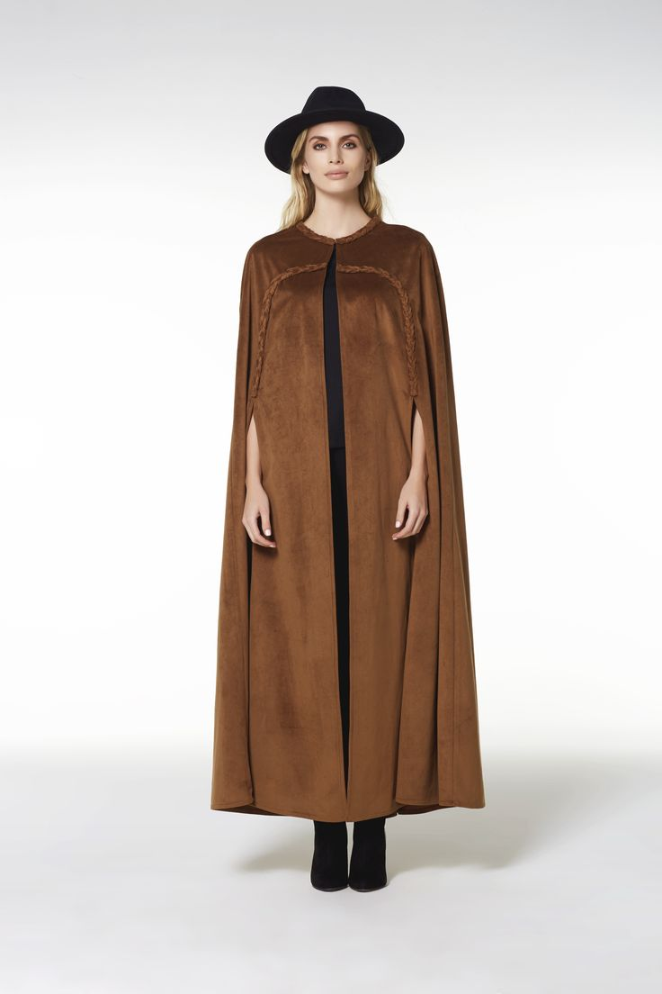 LONG STYLE SUEDE CAPE