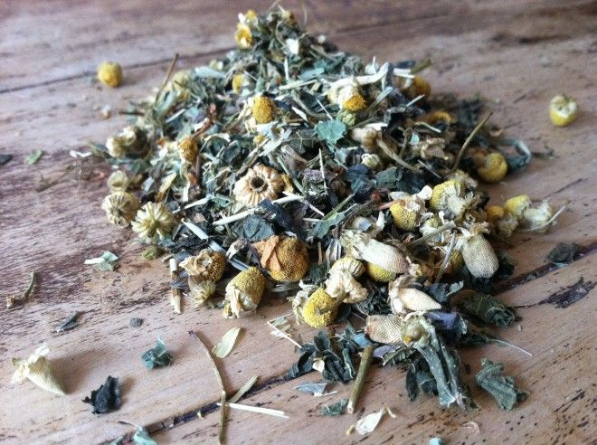 Uplifting Herbal tea for winter blues: -3 parts Lemon Balm -2 parts Chamomile Flowers -2 parts Nettle Leaf -2 parts Eleuthero (Siberian Ginseng) Root -1 part St. John's wort -1 part Oatstraw