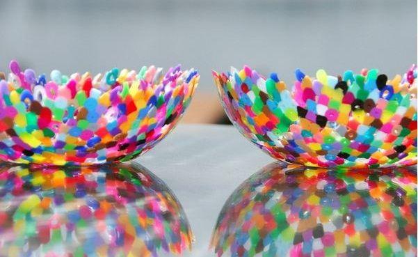 Funky DIY Perler Beads Bowls!