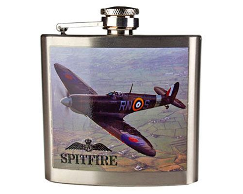 Spitfire Hip Flask Great Fathers Day gift at £17 please contact me through email with FREE local delivery