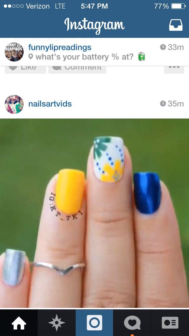 Mejores 693 imágenes de Nails en Pinterest   Diseños de uñas ...