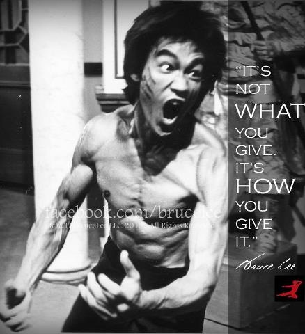 Bruce Lee quote on giving.