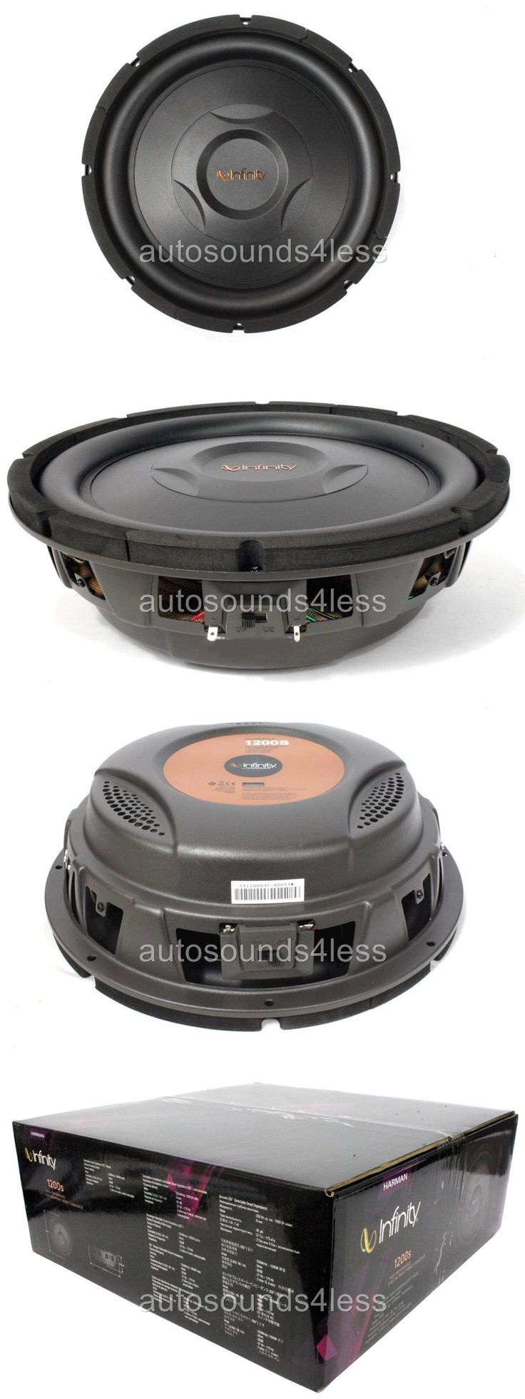 Car Subwoofers: New Infinity Ref1200s 1000 Watts 12 2 Or 4 Ohm Shallow Mount Truck Subwoofer -> BUY IT NOW ONLY: $95.49 on eBay!