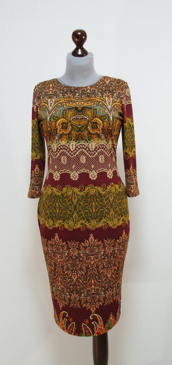 Осеннее платье-карандаш