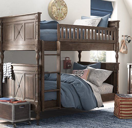 Jourdan Twin-Over-Twin Bunk Bed | Bunk Beds | Restoration Hardware Baby & Child